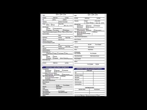 BDO Asenso Kabayan Personal Loan Application Form