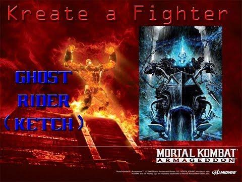 Mortal Kombat Armageddon Kreate A Fighter: Ghost Rider (Ketch)