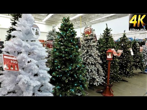 CHRISTMAS AT WALMART - ALL CHRISTMAS TREES WITH PRICES - Christmas Shopping Christmas Tree (4K)