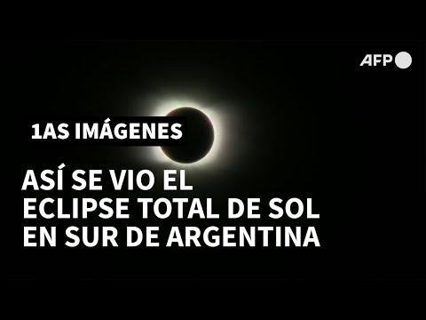 AFP Español: Así se vio el eclipse total de sol en el sur de Argentina | AFP