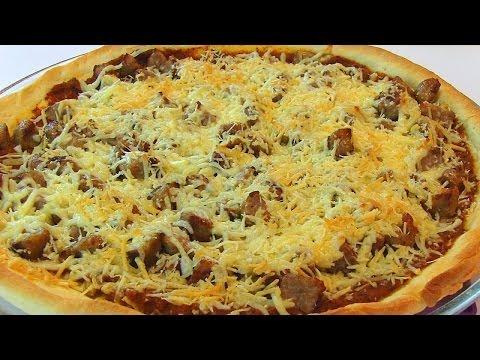 Betty's Thin Crust Italian Sausage Pizza
