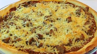Bettys Thin Crust Italian Sausage Pizza