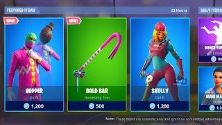 *NEW* HOPPER SKIN & BOLD BAR PICKAXE! (Fortnite Item Shop 18th April)