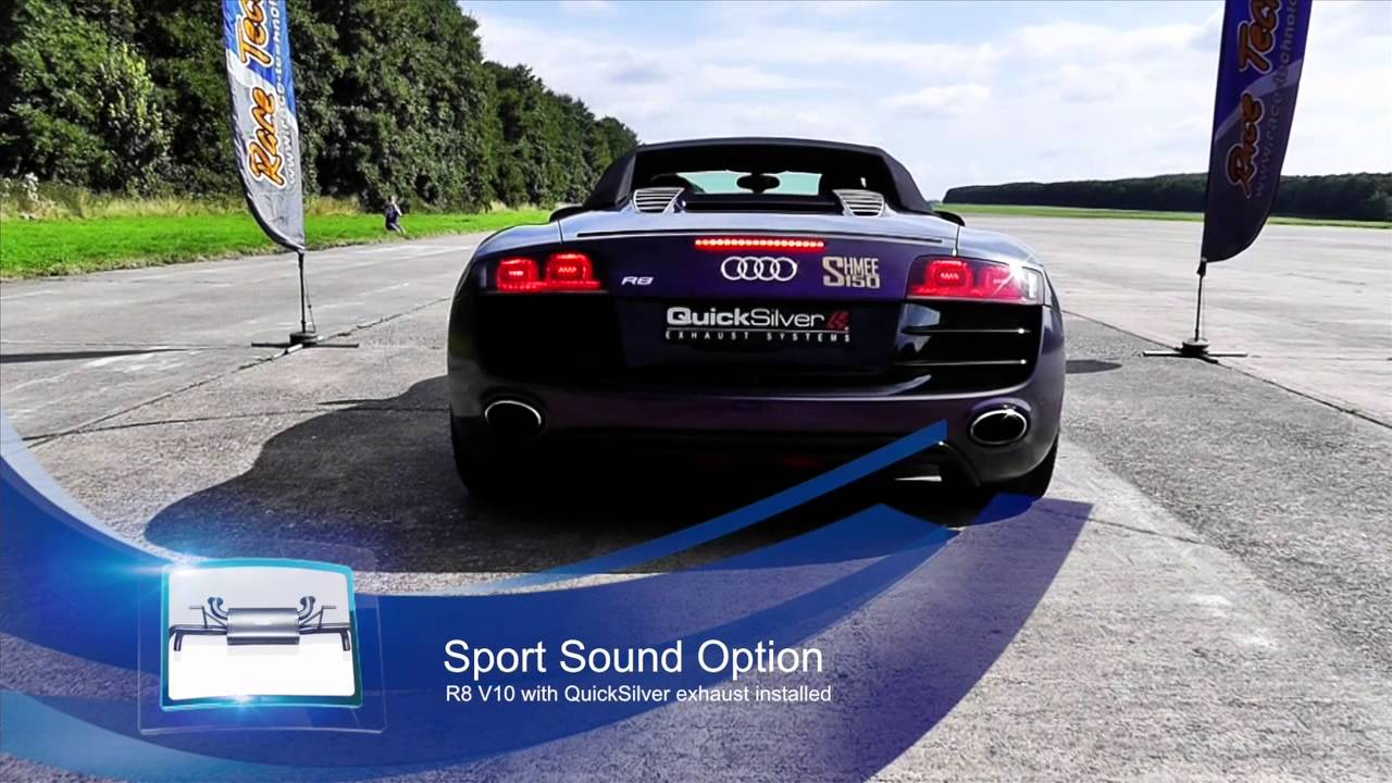 Audi R8 V10 TITAN Sport and SuperSport Exhaust comparison - YouTube