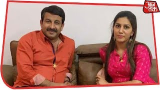 Photo Of Sapna Choudhary With Manoj Tiwari Surfaces Day After She Denied Joining Congress
