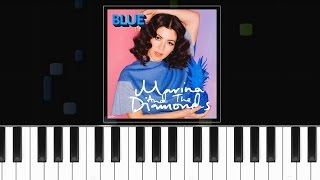 "Marina & The Diamonds - ""Blue"" Piano Tutorial - Chords - How To Play - Cover"