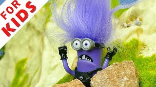 Evil Minion and Surprise eggs . Cartoon for kids.
