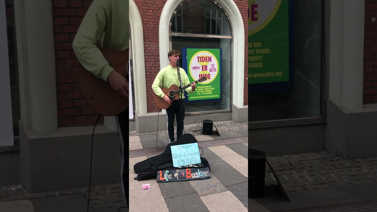 Kid vibes to cover of Mercy by streetmusician #shorts