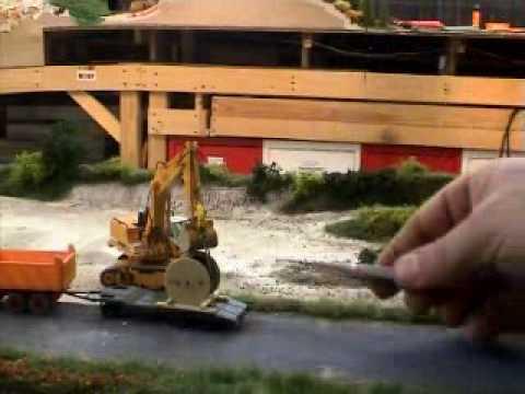 Liebherr R962 ferngesteuert im Maßstab 1/87 in Action -- Video2