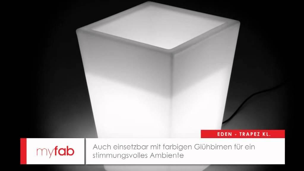 LED Pflanzkübel Trapez klein von myfab - YouTube