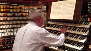 John Binsfeld performing on the Wanamaker Organ in Philadelphia, PA August 2013