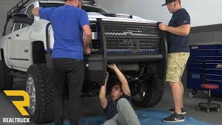 How to Install Road Armor Vaquero Guard Front Bumper on a 2017 Chevy Silverado 2500