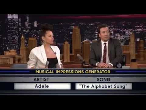 Alicia Keys sings Adele on Jimmy Fallon