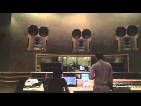 Nawaz Hussain recording at the Yashraj studios for Aditya Narayan's new single 'Mohabbat'