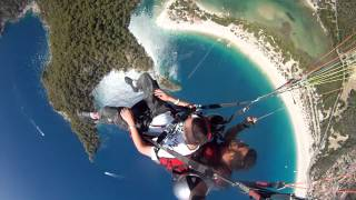 Paragliding acrobatic death spin. Babadag mountain 6000ft over Oludeniz, Turkey June 2013