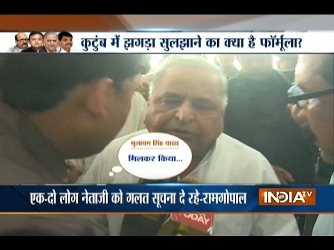 Shivpal To Remain In Party, Not In Government Says Mulayam Singh Yadav