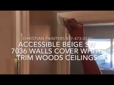 Accessible Beige Sw 7036 Walls Cover White Sherwin Williams Brightest Flat Trim Woods Ceiling
