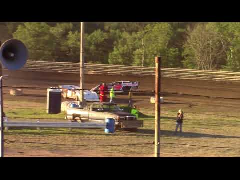 Hummingbird Speedway (7-7-18): Swanson Heavy Duty Truck Repair Semi-Late Model Heat Race #1