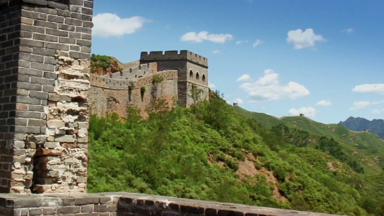The Great Wall of China on a perfect day