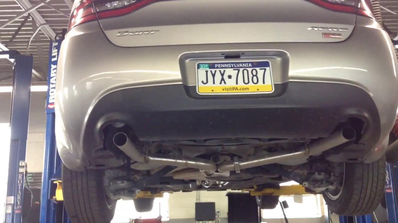 13 16 dodge dart dual exhaust lower bumper valance install