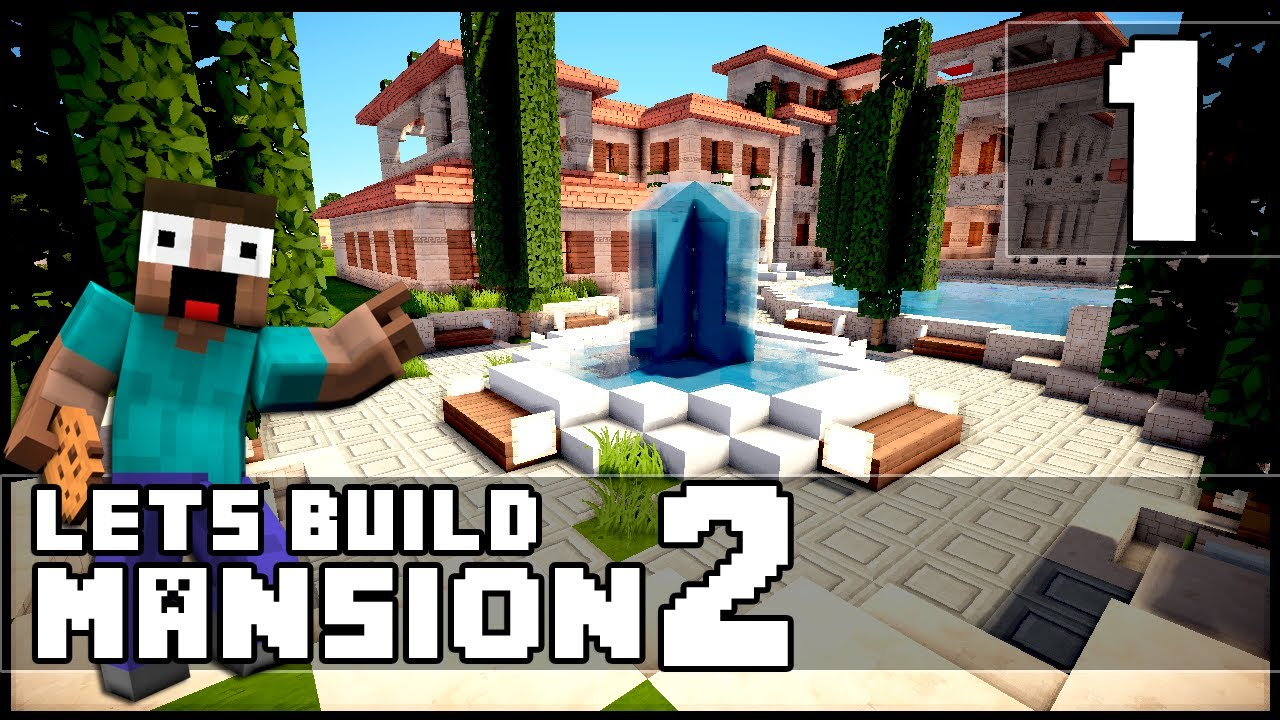minecraft mansion tutorial youtube