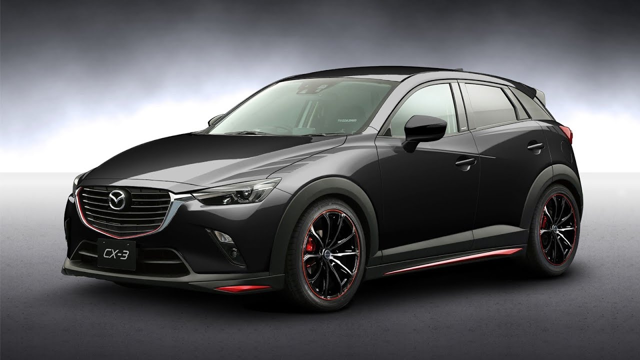 mazda cx3 rs racing concept for tokyo auto salon 2016. Black Bedroom Furniture Sets. Home Design Ideas