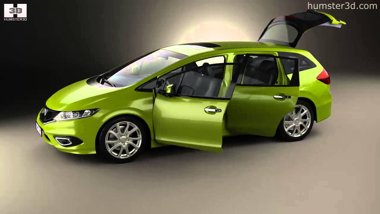 Honda Jade with HQ interior 2014 by 3D model store Humster3D.com - YouTube