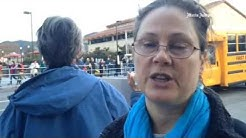 Laura Niesh of 350 Sonoma on #NoDAPL protest at CitiBank in downtown San Rafael.