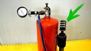 Крутая доработка АВТО с помощью старого огнетушителя и амортизатора!!