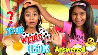 Your Weird Questions Answered - Comedy Q&A Chat Vlog : The Evangeline Show // GEM Sisters