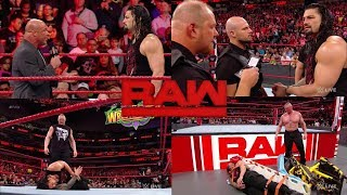 WWE Raw 19th March 2018 Brock Lesnar Retruns And Attack Roman Reigns (3/19/2018)