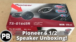 "Pioneer 6 5"" Speaker Unboxing TS-G1645R Coaxial"