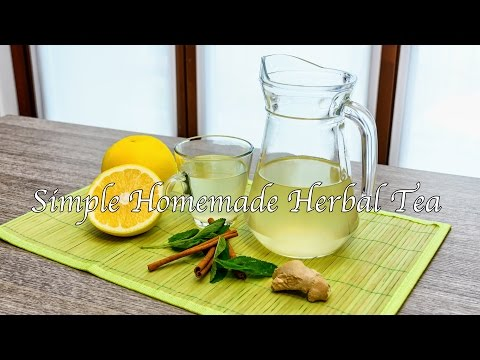 Simple Homemade Herbal Tea - A Healthy Drink (Warm or Iced)