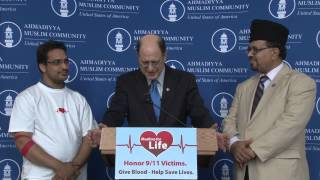 "Congressman Brad Sherman (D-CA) remarks at ""Muslims for Life""  9/11 blood drive"