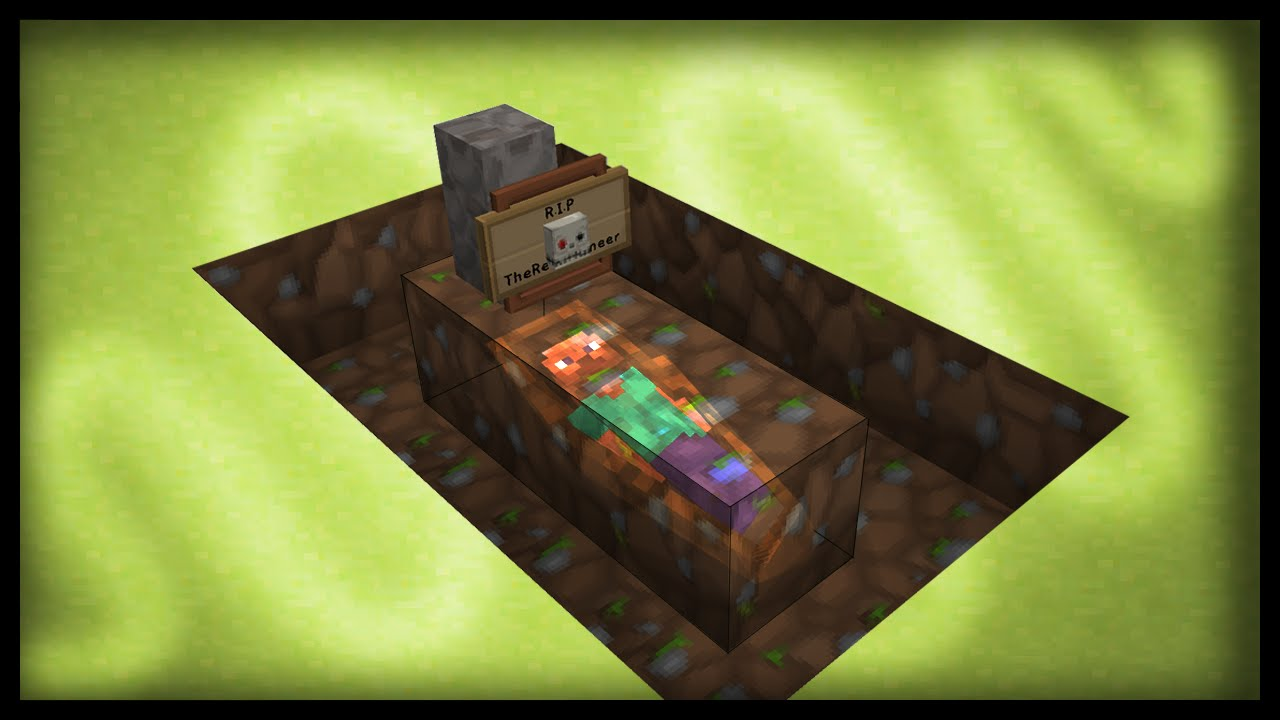Minecraft How To Make Working Graves - Youtube