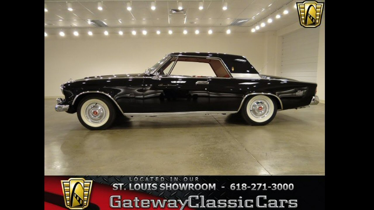 1962 studebaker gt hawk gateway classic cars st louis mo youtube. Black Bedroom Furniture Sets. Home Design Ideas