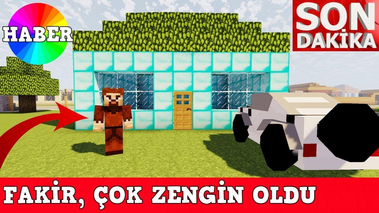 Zengin Vs Fakir 51 Fakir Zengin Oldu Minecraft Youtube