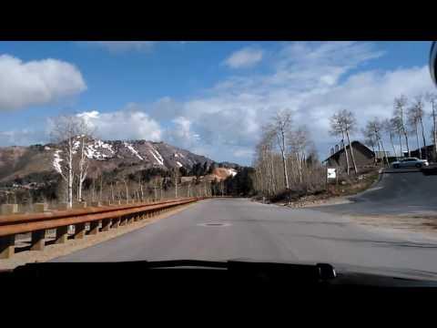 Driving my BMW around Powder Mountain Resort and down to Wolf creek.