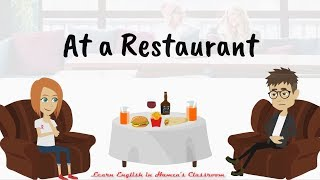 At A Restaurant | Ordering At A Restaurant | English Speaking Practice | Restaurant Dialogue