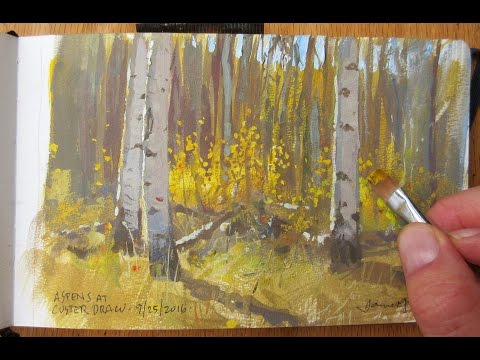 Painting an Aspen Forest in Colorado