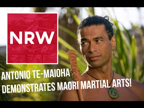 Antonio Te Maioha Demonstrates Maori Martial Arts at @RebelsSpartacon 2015 NRW Spartacus Barca