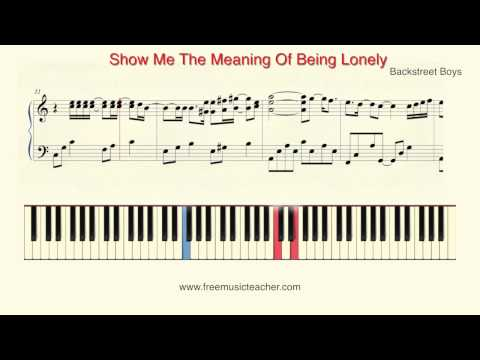 Show Me The Meaning Of Being Lonely ukulele chords - Backstreet Boys ...