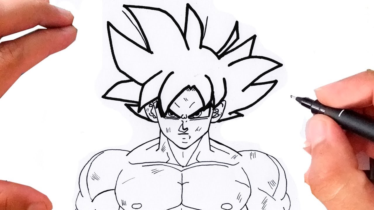 Desenhos Para Colorir Colorir Goku: Como Desenhar O GOKU INSTINTO SUPERIOR