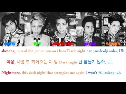 SHINee - Evil (Rom-Han-Eng Lyrics) Color & Picture Coded