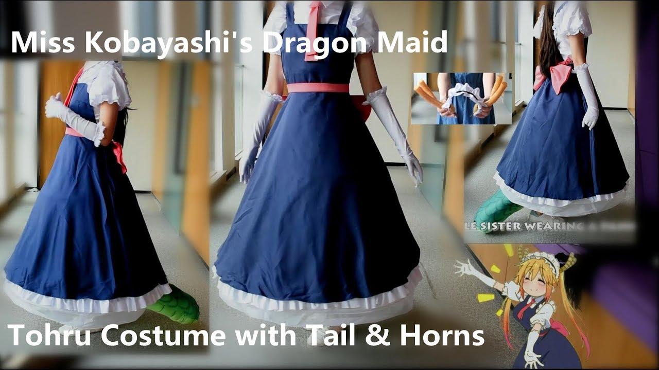 Miss Kobayashi/'s Dragon Maid Tohru Maid Cosplay Costume Uniform Tohru Dress