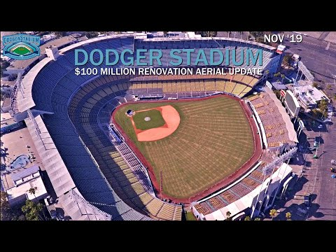 Dodger Stadium $100 Million Renovation Aerial Update Nov '19