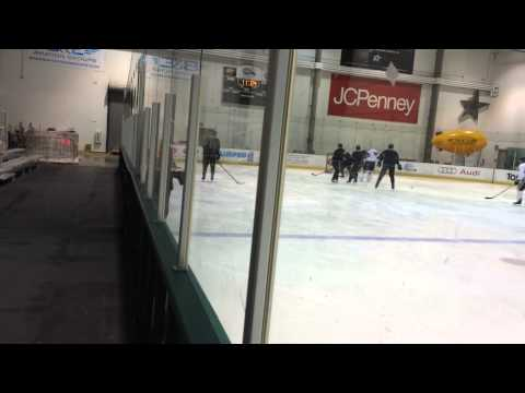 Dallas Stars practice with tennis ball