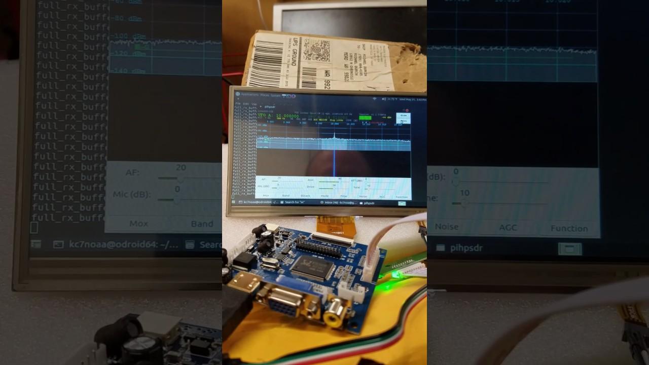 Pihpsdr on Odroid-C2 & LimeSDR-USB