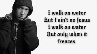 Eminem - Walk On Water ft Skylar Grey Lyrics  Lyric Video  Clean  Live  Official  HD