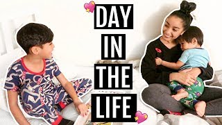 A REAL DAY IN THE LIFE OF A MOM OF 2 | Mel and Shane